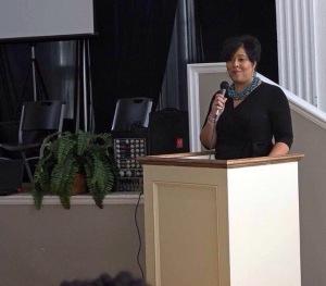 Dr April Speaking