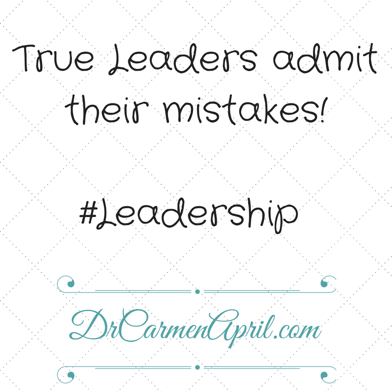 true leaders admit mistakes