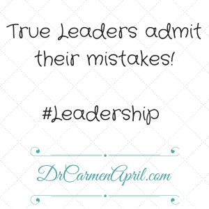 Leaders Admit Mistakes