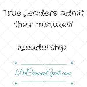 Leaders Admit Mistakes