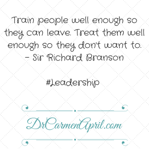 Train people well
