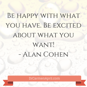 Be Excited About What you Want