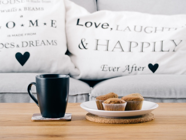 Coffee ad love pillows