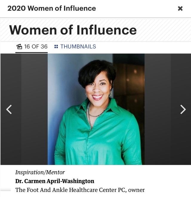 Dr Carmen April Nashville Business Journal Women of Influence 2020